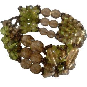 Venetian crystal glass bracelet